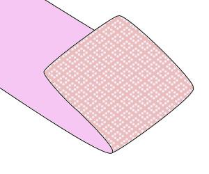 手先を折って、帯の折れ山の位置調整