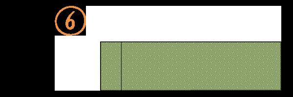 八寸袋名古屋帯のたたみ方6