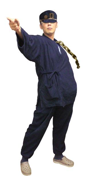 作務衣で空条承太郎