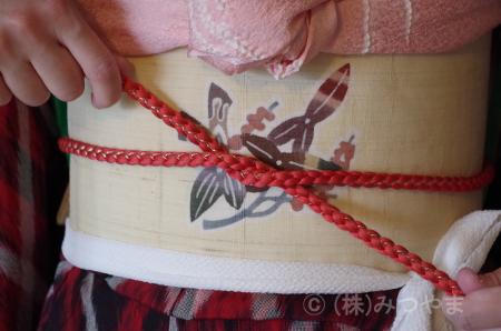 帯締めの結び方1