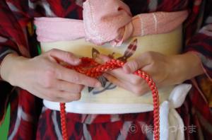 帯締めの結び方4