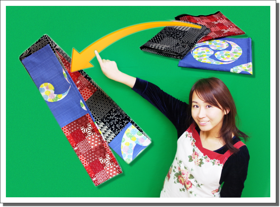 服地や色々な布を帯に仕立て