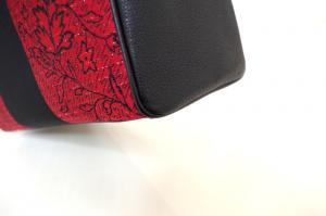 赤い和柄トートバッグ・ディテール