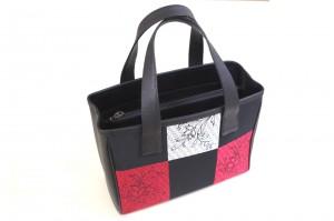 赤い和柄トートバッグ・全体写真