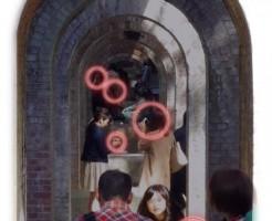 水路閣の窓構図・カメラマン達の攻防