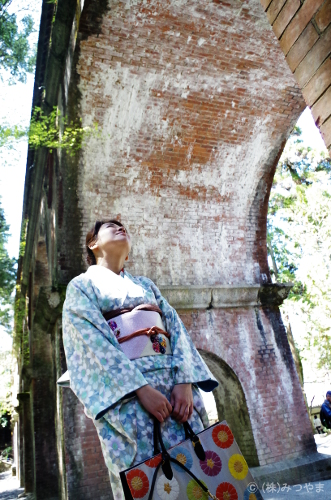 南禅寺・水路閣の写真・下から