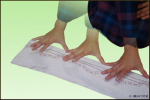 手先に必要な長さを手幅で測る