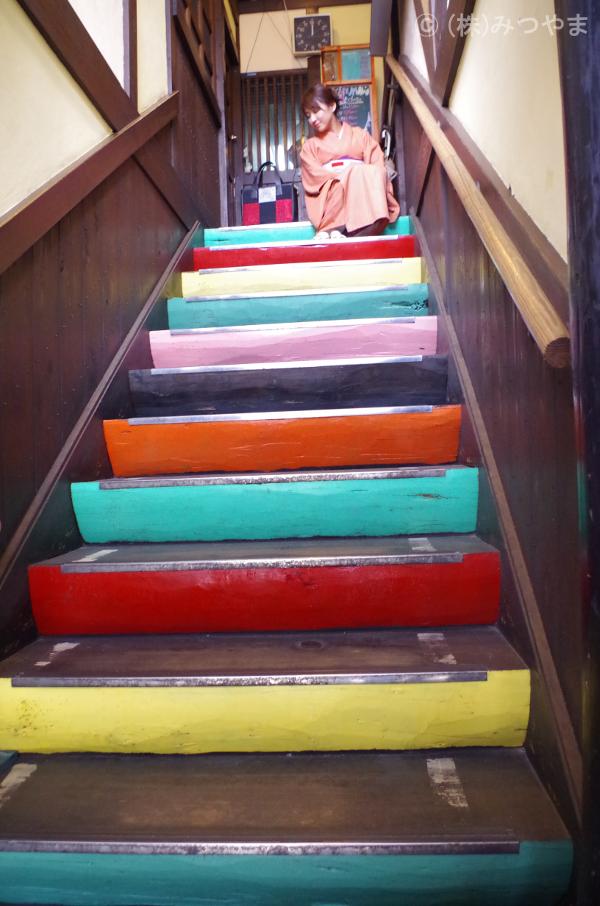 町子カラフル階段