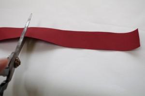 ヘアゴムの作り方・布を切る