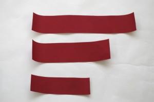 ヘアゴムの作り方・切り終わった布