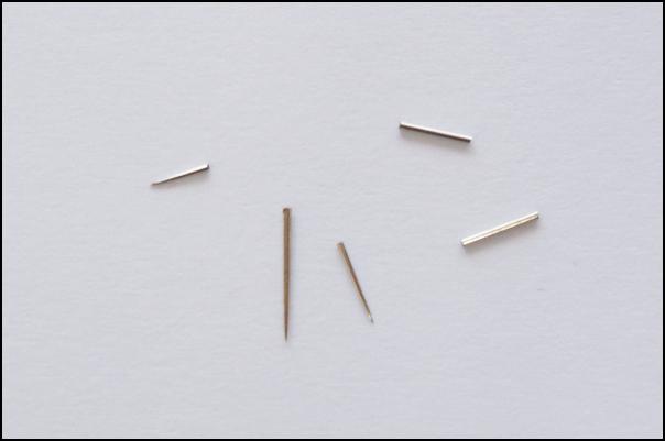 古い帯に混入していた折れた針