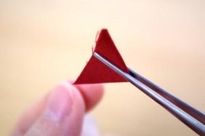 三角をめくって折ってく