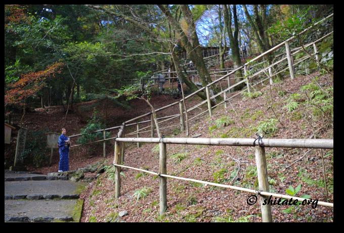 高山寺の長い階段