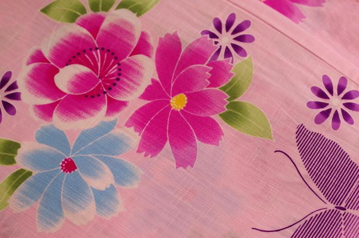 かわいいピンク浴衣