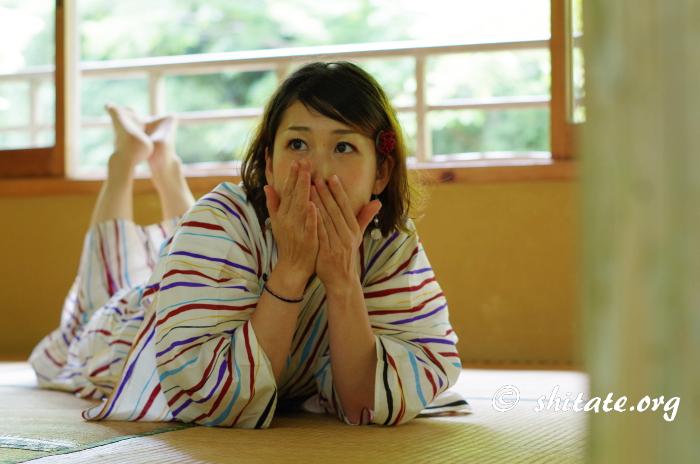 モダン浴衣女子・ポートレート