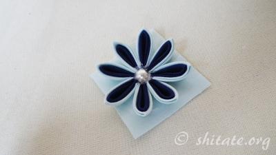 二重剣つまみ花の作り方27