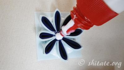 二重剣つまみ花の作り方25