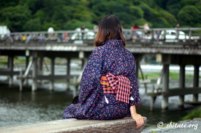 嵐山の渡月橋の写真