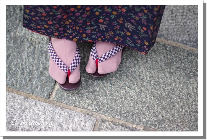 今日の着物コーデ・草履と足袋