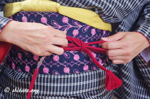 帯締めの結び方8