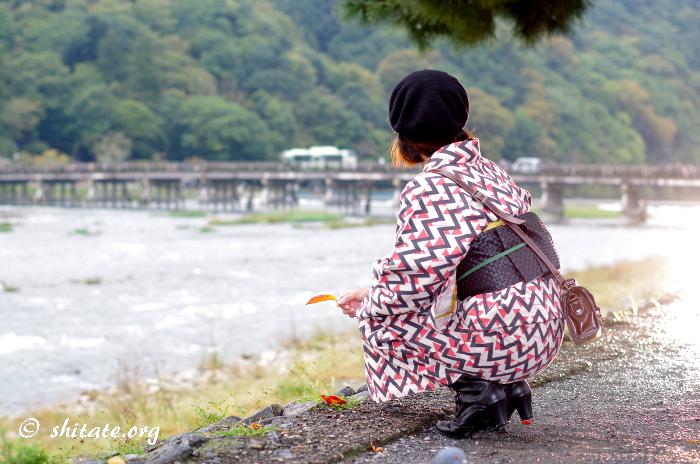 洋服地・綿麻の着物コーデ写真2