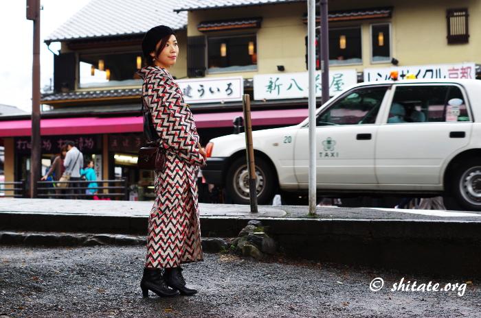 洋服地・綿麻の着物コーデ写真4