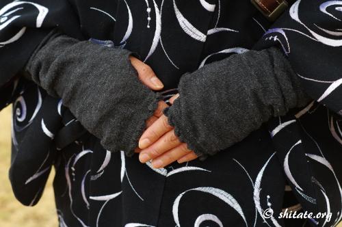 冬の着物コーディネート・道中着+ブーツ3