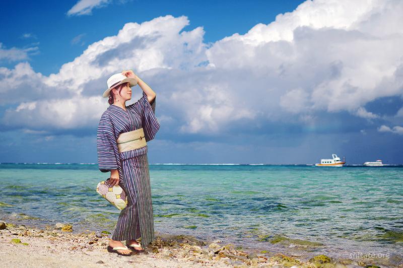 浴衣in竹富島