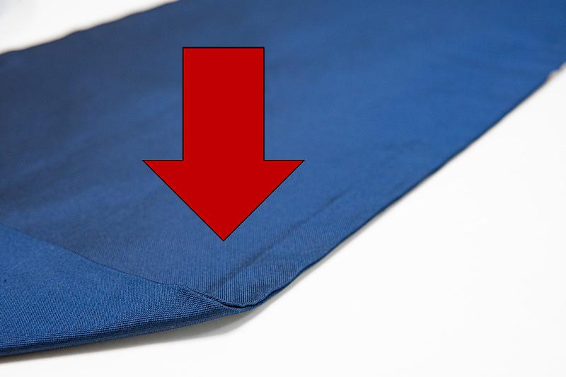 九寸名古屋帯の縫い代の型