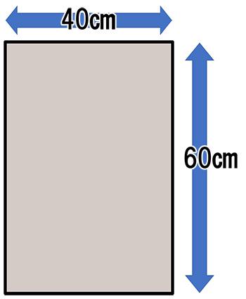 二部式の作り帯に必要な生地面積(手先)