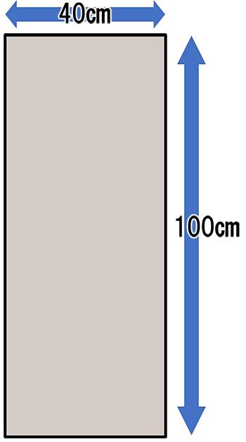 二部式の作り帯に必要な生地面積(胴巻き)