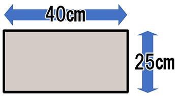 二部式の作り帯に必要な生地面積(たれ先)