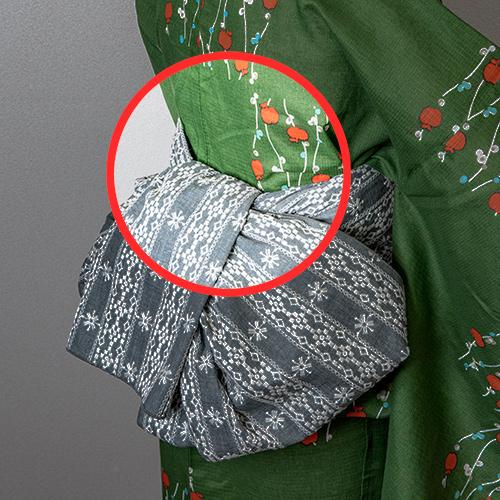 半幅帯やヘコ帯の結び方のコツ2