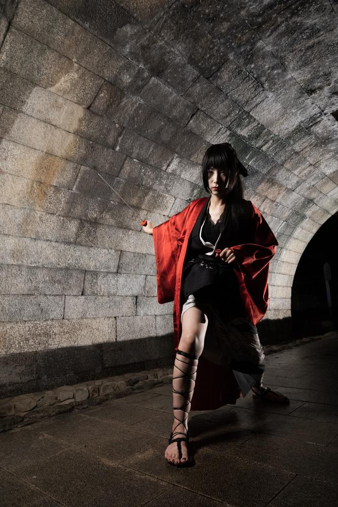 黒留袖の剣士コーデ解説写真2