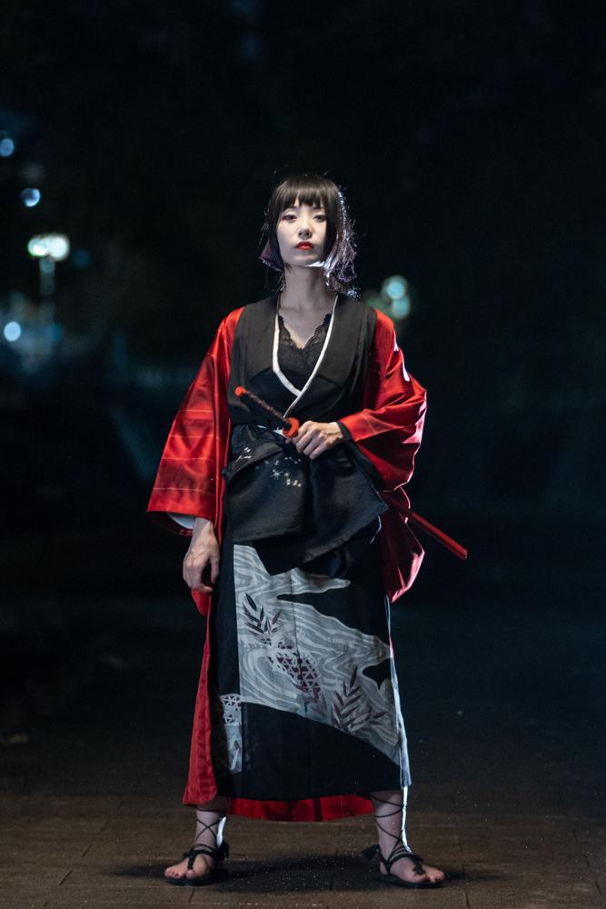 黒留袖の剣士コーデ解説写真1