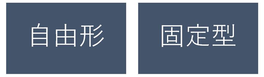 作り帯の種類・自由形と固定型