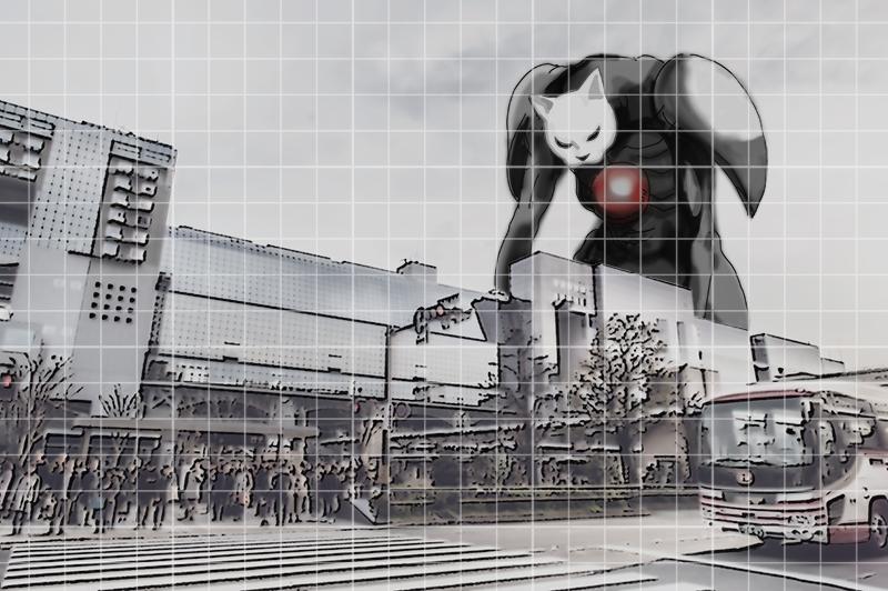 京都駅にコロエル出現