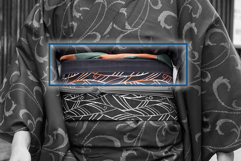 帯の幅を継いだ部分の拡大写真4